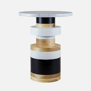 """Sass Side Table Medium mit 14"""" Marmor Tischplatte von MPGMB für Souda"""