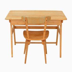 Vintage Schreibtisch und Stuhl von Jacob Müller für Wohnhilfe