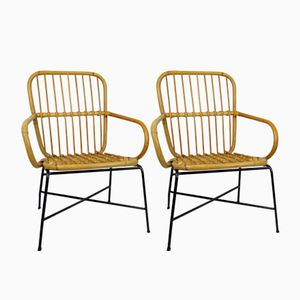 Bambus Stühle, 1970er, 2er Set