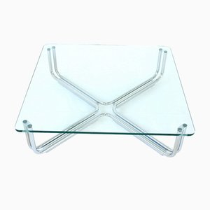 Glass and Chrome Coffee Table by Gianfranco Frattini for Cassina, 1968