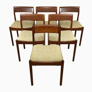 Teak Dining Chairs, 1960s, Set of 6