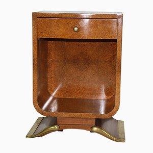 Tavolo vintage Art Déco in legno smussato ambrato