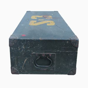 Wooden Box with Metal Handles, 1930s