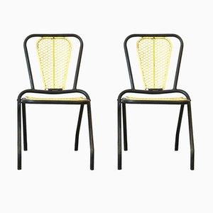 Tubular Folding Garden Chairs, 1950s, Set of 2