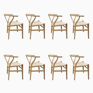 Vintage CH24 Wishbone Chairs by Hans Wegner for Carl Hansen & Søn, Set of 8