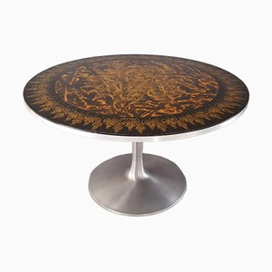 Vintage Dining Table Decorated by Susanne Fjeldsøe by Poul Cadovius for Cado