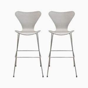 Vintage Bar Stools by Arne Jacobsen for Fritz Hansen, Set of 2