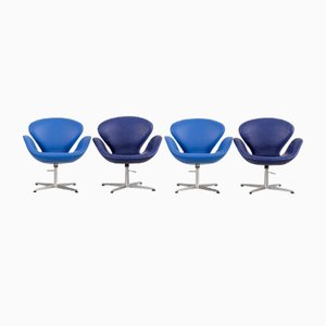 Mid-Century Swan Chairs von Arne Jacobsen für Fritz Hansen, 4er Set