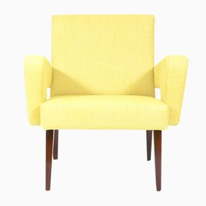 Vintage Czech Yellow Lounge Chair