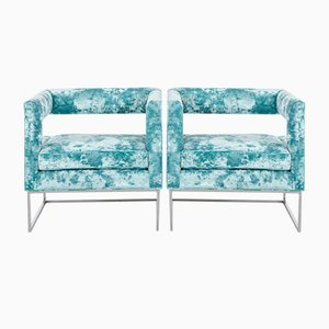 Open Back Lounge Chairs from Bernhardt, 1970s, Set of 2