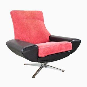 Mid-Century Capri High Back Swivel Lounge Chair by Johannes Andersen for Ab Trensums Fåtöljfabrik