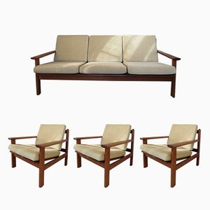 Model 390 Living Room Set by Poul Volther for Frem Rolje, 1960s, Set of 4