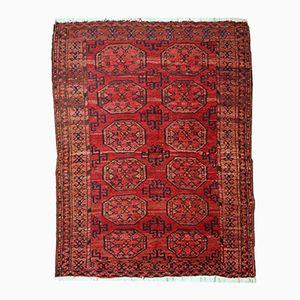 Antique Handmade Afghan Ersari Rug, 1910s