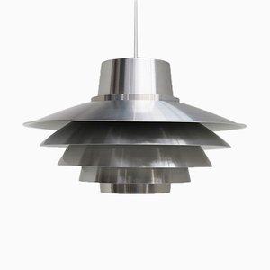 Lampada a sospensione Verona in alluminio di Sven Middelboe per Nordisk Solar, anni '80