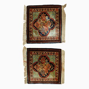 Antique Handmade Persian Dabir Kashan Rugs, 1890s, Set of 2