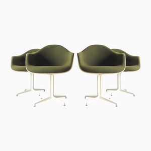 La Fonda DAL Armchairs in Fiberglass & Hopsack by Ray & Charles Eames for Herman Miller, 1960s, Set of 4