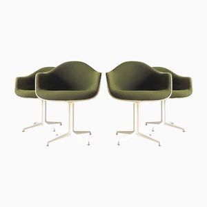 La Fonda DAL Armlehnstühle aus Fiberglas & Hopsack von Ray & Charles Eames für Herman Miller, 1960er, 4er Set