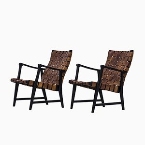Easy Chairs by Elias Svedberg for Nordiska Kompaniet, 1940s, Set of 2