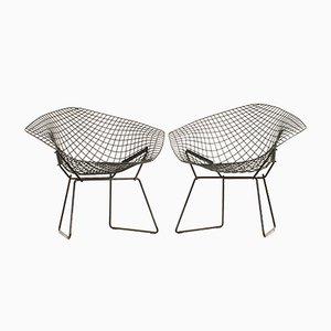 Schwarze Diamond Chairs von Harry Bertoia für Knoll, 1950er, 2er Set