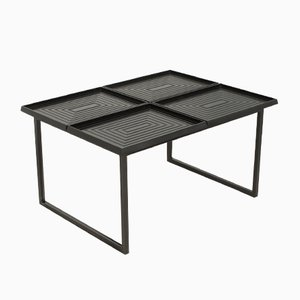 Geometric Coffee Table with Removable Trays, 1980s