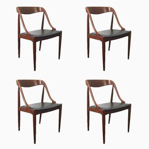 Mid-Century Chairs by Johannes Andersen for Uldum Mobelfabrik, Set of 4