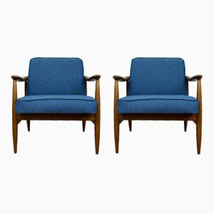 Mid-Century GFM-87 Armchairs by Juliusz Kedziorek for Gościcińskie Furniture Factory, Set of 2