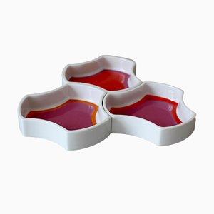 Op Art Porcelain Bowls from Arzberg, 1960s, Set of 3