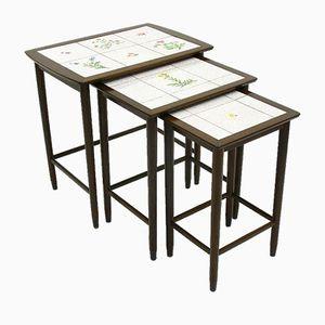 Vintage Tiles Floral Nesting Tables