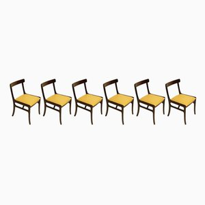 Rungstedlund Chairs in Mahogany and Leather by Ole Wanscher for Poul Jeppesens, Set of 6