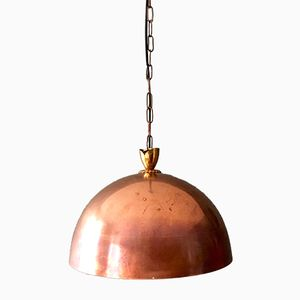 Copper Pendant with Brass Details, 1950s