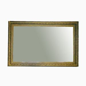 Vintage Wooden Mirror with a Golden Frame
