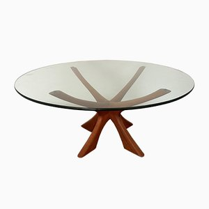 Danish Organically-Shaped Coffee Table by Illum Wikkelso, 1960s