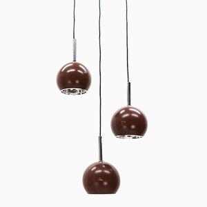 Vintage Pendant Lamps, 1970s, Set of 3
