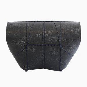 Sgabello Bound nero di Maarten Kolk & Guus Kusters