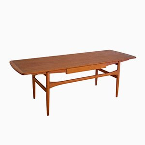 Danish Coffee Table with Drawer by Andreas Hansen for Arrebo Mobler, 1960s