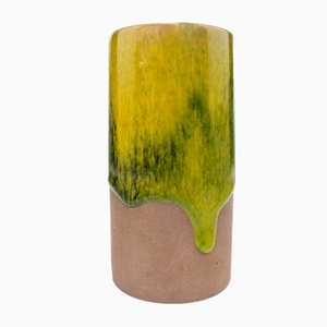 Scandinavian Ceramic Vase with Running Glaze by Gunnar Nylund for Nymolle, 1960s