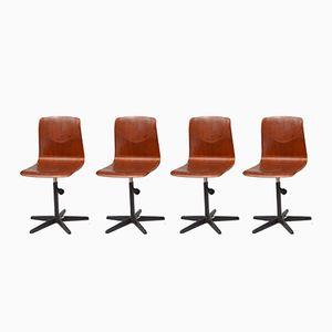 Mid-Century Stühle von Galvanitas, 4er Set