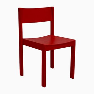 Mid-Century Red Dining Room Chairs by Carl Auböck for E. & A. Pollak