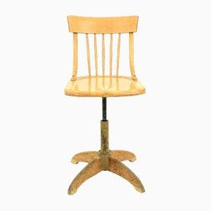 Chaise Pivotante Vintage en Hêtre