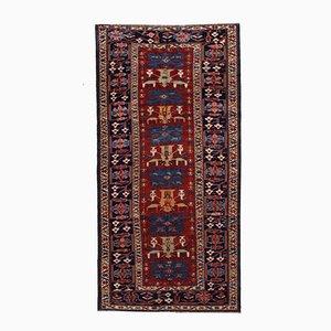 Antique Handmade Caucasian Azerbaijani Shirvan Rug, 1880s