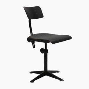 Mid-Century Black Swivel Chair by Friso Kramer for Ahrend De Cirkel, 1960s