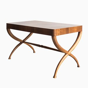 Architectural Italian Wooden Coffee Table, 1940s