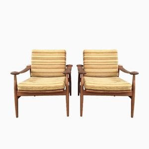 Lounge Chairs by Finn Juhl for France & Son, Set of 2