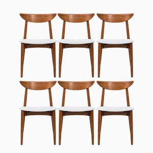 Scandinavian Dining Chairs by Harry Østergaard for Randers Møbelfabrik, 1950s, Set of 6