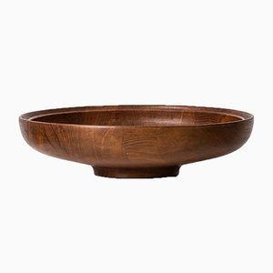 Mid-Century Scandinavian Teak Bowl by Henning Koppel for Georg Jensen, 1950s