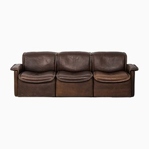 DS-12 Swiss Brown Leather Sofa by de Sede, 1970s
