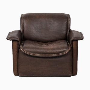 DS-12 Vintage Brown Leather Easy Chair from de Sede, 1970s