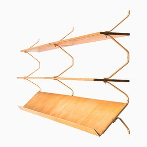 Mid-Century Wall Mounted Bookcase by Bruno Mathsson for Karl Mathsson, 1960s