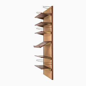 Mid-Century Wall Mounted Bookcase by Finn Juhl for Bovirke, 1950s