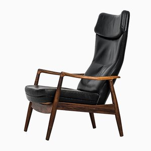 Reclining Rosewood Chair by Ib Kofod-Larsen for Povl Dinesen, 1950s